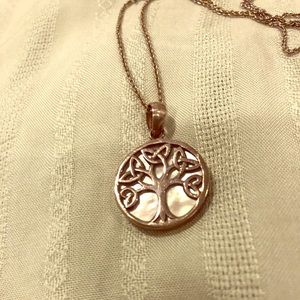 Celtic tree of life/mother of pearl pendant